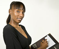 Afroamerikaner-Geschäftsfrau oder Kursteilnehmer Lizenzfreies Stockfoto