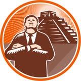 Afroamerikaner-Geschäftsmann Protect Pyramid stock abbildung
