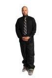 Afroamerikaner-Geschäftsmann Standing stockfotografie