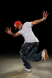 Afroamerikaner-Hip Hop-Tänzer Stockbild