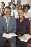 Afroamerikaner-Leute an der Kirche Lizenzfreies Stockbild