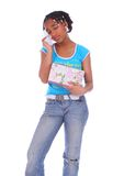 Afroamerikaner-Mädchen-Schreien Lizenzfreie Stockbilder