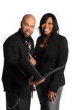 Afroamerikaner-Mann und Frau lizenzfreies stockfoto