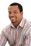 Afroamerikaner-Mannesportrait lizenzfreie stockfotos