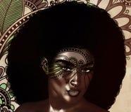 Afroamerikaner-Mode-Schönheit, modische Afro-Frisur lizenzfreie abbildung