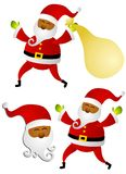 Afroamerikaner-Weihnachtsmann-Klipp-Kunst Stockfotografie