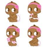 Afroamerikanerbaby stock abbildung