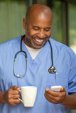 Afroamerikanerdoktor Stockfoto