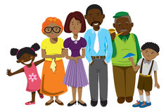 Afroamerikanerfamilie lizenzfreie stockbilder