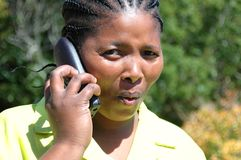 Afroamerikanerfrau Lizenzfreies Stockfoto