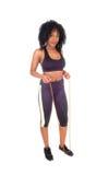 Afroamerikanerfrau mit Seil Lizenzfreies Stockfoto