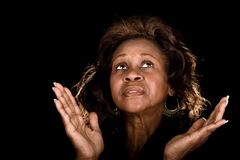 Afroamerikanerfrauenbeten Stockbilder