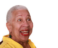 Afroamerikanerfrauenlachen Stockfoto