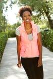 Afroamerikanerfrauentrainieren Stockfotografie