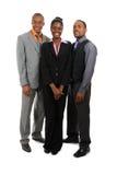 Afroamerikanergeschäfts-Teamstellung Stockfotografie