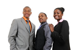 Afroamerikanergeschäfts-Teamstellung Lizenzfreie Stockfotografie