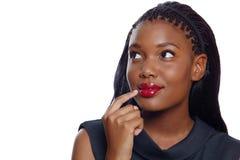 AfroamerikanerGeschäftsfrau stockfoto