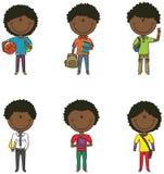 afroamerykańskie szkolne chłopiec Obrazy Royalty Free