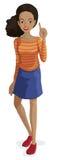 afroamerykańska dziewczyna Obraz Stock