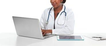 Afroamerykanin doktorska kobieta Obraz Stock