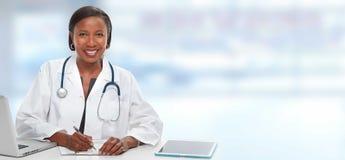 Afroamerykanin doktorska kobieta Fotografia Royalty Free