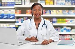 Afroamerykanin doktorska kobieta Fotografia Stock