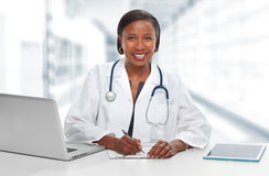 Afroamerykanin doktorska kobieta Obrazy Stock