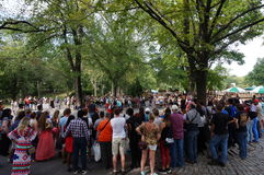Afrobats wykonawcy w central park, Nowy Jork Zdjęcia Stock