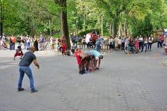 Afrobats wykonawcy w central park, Nowy Jork Obrazy Stock