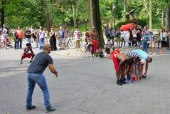 Afrobats wykonawcy w central park, Nowy Jork Obraz Royalty Free