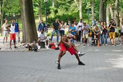 Afrobats wykonawcy w central park, Nowy Jork Fotografia Royalty Free
