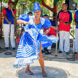 Afrocuban dancer and traditional music group Stock Photography