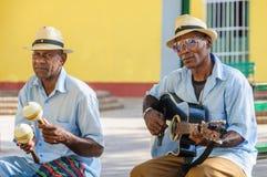 Afrocuban musicans bawić się w Trinidad, Kuba Fotografia Stock