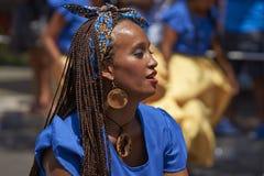 Afrodescendiente Dancer - Arica, Chile Stock Photo
