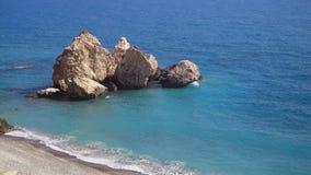 Afrodita's birth place. Petra to Romiu near Paphos Cyprus Stock Image