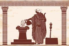 Afrodite della dea del greco antico illustrazione di stock
