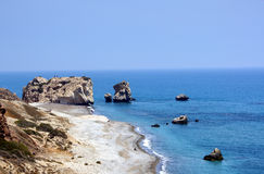 Afrodite's birthplace - Cypru. Coast in the Cyprus west. The birthplace of Venus Royalty Free Stock Image