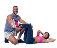 Afroe-amerikanisch ausarbeitende Paare Stockfotos