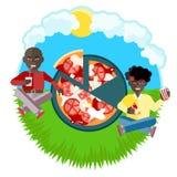 Afroe-amerikanisch Freunde am Picknick Lizenzfreie Stockfotografie