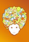 afroen behandla som ett barn stil royaltyfri illustrationer