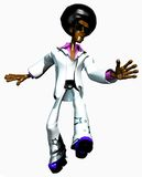 Afroman dancing Royalty Free Stock Images
