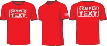 Afronte, traseras y laterales las vistas de la camiseta Vector Foto de archivo libre de regalías