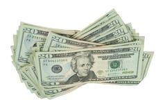 Afrouxe a pilha de dinheiro Imagens de Stock Royalty Free