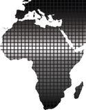 afryce mapa Zdjęcie Stock