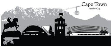 afryce przylądka na południe od miasta Ilustracja Wektor
