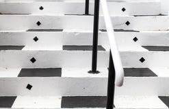 afryce przylądka na południe od miasta Zakończenie up czarny i biały malujący kroki prowadzi Kalka zatoki Theatre, lokalizować w  zdjęcie stock