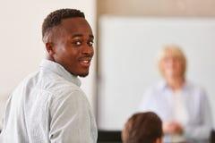 Afrykański uczeń w klasie zdjęcie stock