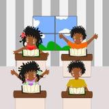 Afrykańscy dzieci iść szkoła Obraz Stock