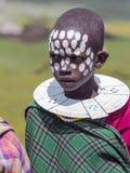 Afrykańscy dzieci z malującymi ocechowaniami twarz Obrazy Stock