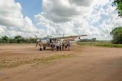 Afrykańscy krajobrazy - turystyka przy Selous gry rezerwą, Tanzania Obrazy Royalty Free